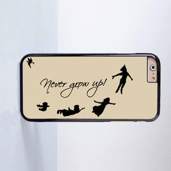 Peter Pan Never Grow up Plastic Case Cover for Apple iPhone 6 6 Plus 4 4s 5 5s 5c