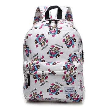 College Stylish Back To School On Sale Hot Deal Casual Comfort Anime Cartoons Sea Print Canvas Backpack [4918758020]