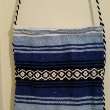 Hippie blanket bag from Mexico Aztec Southwest Navajo SoCal Rock&Roll Phish Festival Grateful Dead Hip Boho Free Spirit PEACE LOVE