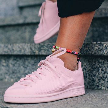 Adidas Stan Smith Primeknit Women Pink Casual Sports Shoes