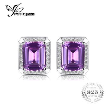 Jewelrypalace Men Luxury 8.6ct Created Alexandrite Sapphire Cufflinks 925 Sterling Silver Fashion Gem stone Charm Jewelry