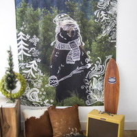 Aeropostale  Doodle Bear Wall Tapestry