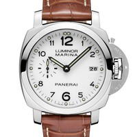 Panerai Men's Swiss Automatic Stainless Steel Watch, Color:Brown (Model: PAM00523)