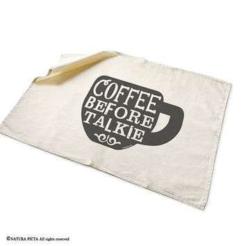 Coffee tea towel-kitchen towels-funny coffee tea towel-custom tea towels-coffee lover gift-dish towel-flour sack towels-NATURA PICTA-TWNP9