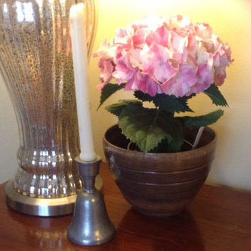 1974 Anvil pewter bell and candle holder.