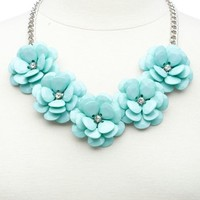 Beaded Flower Collar Necklace