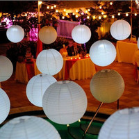 "50pcs 10"" Ball Candy Color Chinese Light Paper Lanterns Wedding Party Decoration wholesale"