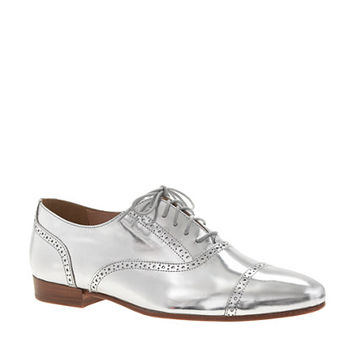 Mirror metallic oxfords - shoes - Women's new arrivals - J.Crew