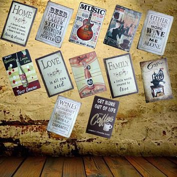 [ Mike86 ] Guitar Music Tin Sign Metal Painting Antique Room Party Bar Home Decor 20X30 CM AA-648