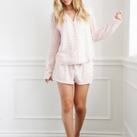 Heart Print PJ Set