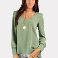 Deep Sea Top - Sage at Necessary Clothing