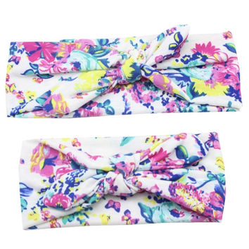 Mom and Baby Matching Floral Print Headbands by Baby in Motion