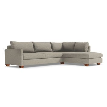 Tuxedo 2pc Sectional Sofa RAF in STRAW - CLEARANCE