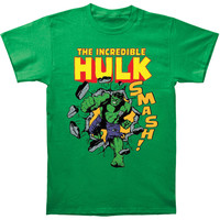 Incredible Hulk Men's  Smash! T-shirt Kelly