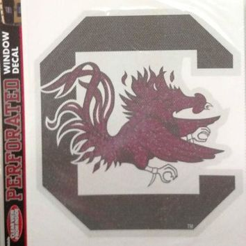 South Carolina Gamecocks USC SD Large Perforated Window Film Decal University of
