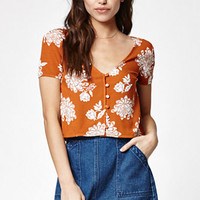Kendall & Kylie V-Neck Short Sleeve Top at PacSun.com