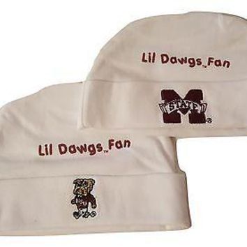 Mississippi State Bulldogs 2 Pk Infant Hat NCAA Team Baby Cap