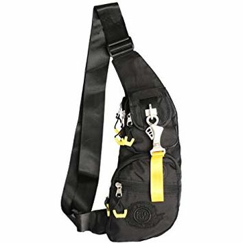 Kawei Knight Nylon Sling Bag Messenger Casual Backpack