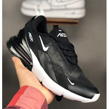 Nike Air Max 270 Mesh breathable semi-palm air cushion sneakers