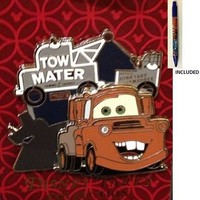 Disney Parks Tow Mater Trading Pin - Disney Parks Exclusive & Limited Availability + Cars Blue Pencil Included