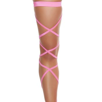 Hot Pink Solid Leg Wraps