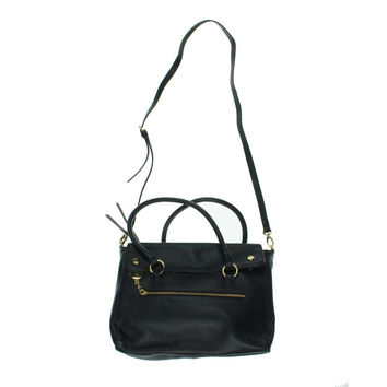 Tommy Hilfiger Womens Leather Textured Tote Handbag
