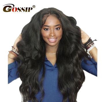 Malaysian Body Wave Lace Front Human Hair Wigs For Black Women Gossip Hair Pre Plucked Lace Frontal Wig Non Remy Front Lace Wigs
