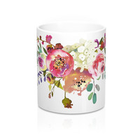 Lovely Rose Spray Coffee Mug