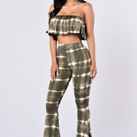 Twist And Tie Set - Olive