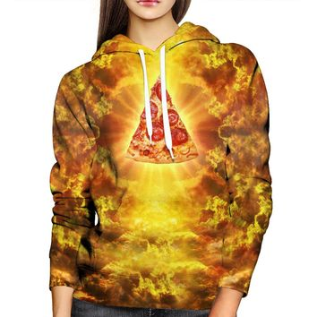 Almighty Pizza Womens Hoodie