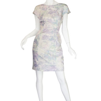 Recent Custom Watercolor Print Silk Erdem Dress
