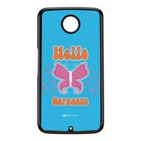 Sassy - Hello Gorgeous 10433 Black Hard Plastic Case for Google Nexus 6 by Sassy Slang
