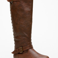 Bamboo Knee High Rider Brown Boots