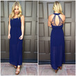 Strings of My Heart Maxi Dress - NAVY BLUE