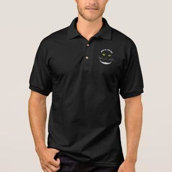 Smiling Cheshire Transparent Cat With Yellow Eyes Polo Shirt