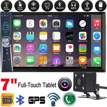 "Universal 7""Double 2DIN Car MP5 Player GPS Wifi Bluetooth Touch Screen DVD Stereo Radio USB TF FM+Rear Camera Screen Protective"