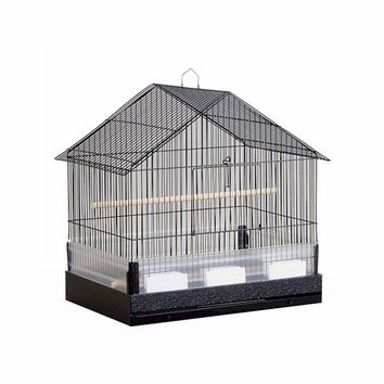 Prevue Hendryx House Style, Metal Base, Plastic Seed Guard Cockatiel Cage