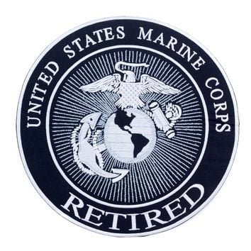 United States Marine Corps retired Iron on Center Patch for Biker Vest CP173