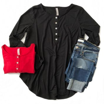 Shell Button Tunic (Multiple Colors)