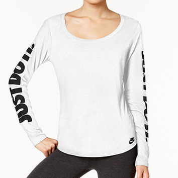 Nike Just Do It Long-Sleeve T-Shirt | macys.com