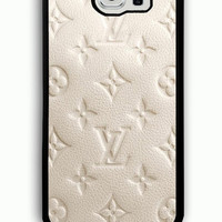 Samsung Galaxy S6 Case - Rubber (TPU) Cover with Louis Vuitton Rubber case Design