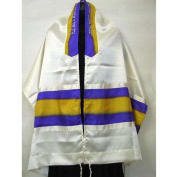 Prayer Shawl Tallit Purple Yellow