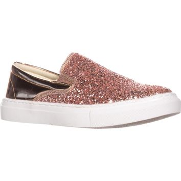Wanted  Spangle Slip-On Fashion Sneakers, Rose Gold, 7 US