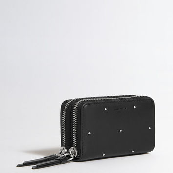 ALLSAINTS US: Womens Kathi Leather Card Holder (black)