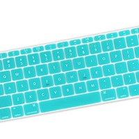 "DHZ Gradient Rainbow A Keyboard Cover Silicone Skin for New Macbook 12"" with Retina Display (2015 Model A1534) and New MacBook Pro 13 Inch (2016 Newest Version Model A1708, No Touch Bar)"