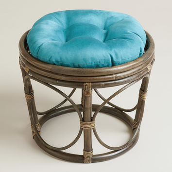 Porcelain Micro Suede Papasan Stool Cushion - World Market