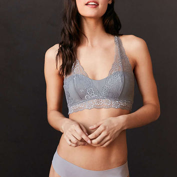 Out From Under April Grey Lace Moulded Cup Bralette - Urban Outfitters