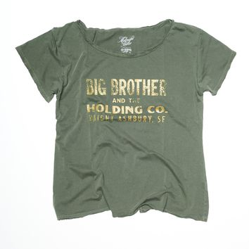 Haight Ashbury Boyfriend Tee - Forest Green