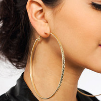 Totally-Textured-Oversized-Earrings GOLD - GoJane.com