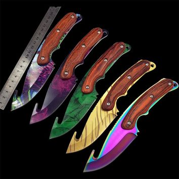 Colored Tiger Tooth Knife